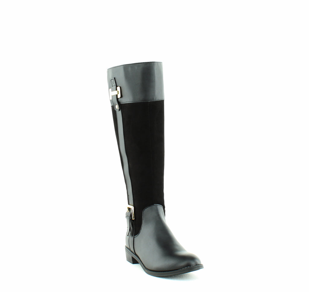 Yieldings Discount Shoes Store's Deliee Tall Boots by Karen Scott in Black