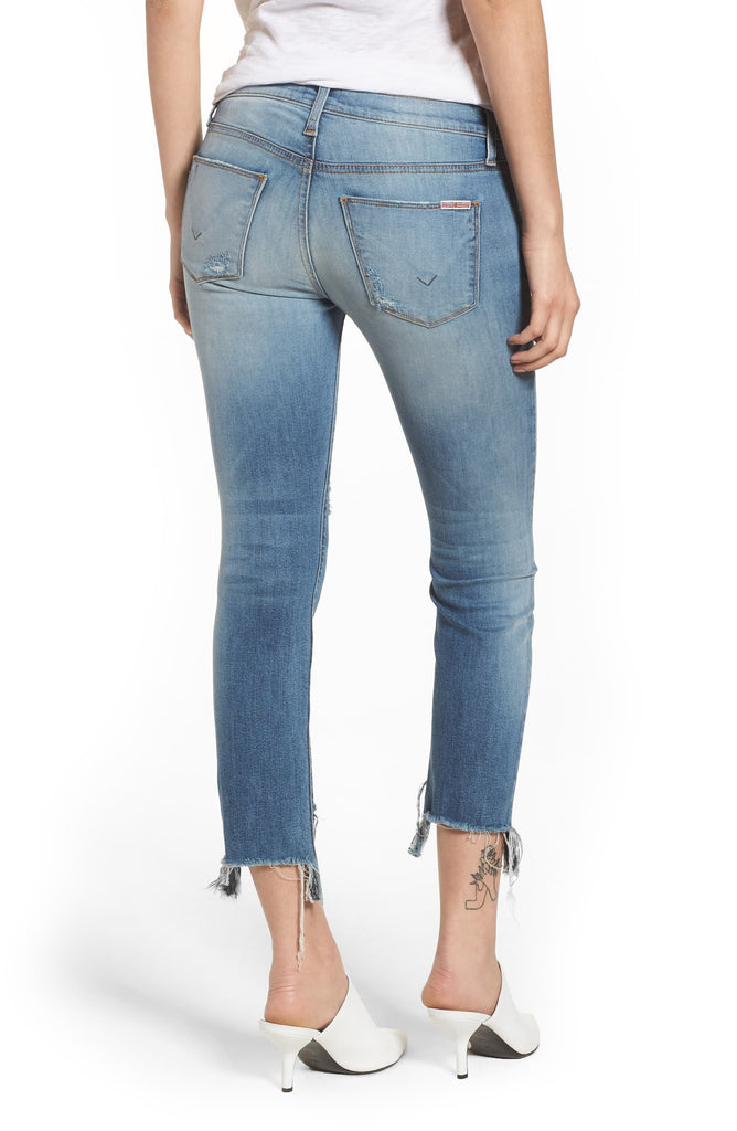Yieldings Discount Clothing Store's Countdown Tally Midrise Crop Jeans by Hudson in Light Blue