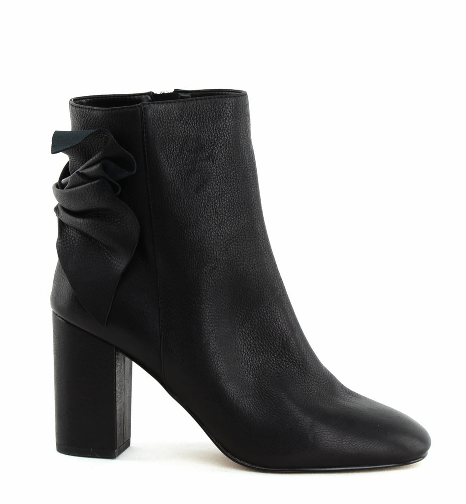 Yieldings Discount Shoes Store's Remi Block Heel Ankle Booties by Avec Les Filles in Black Lamba