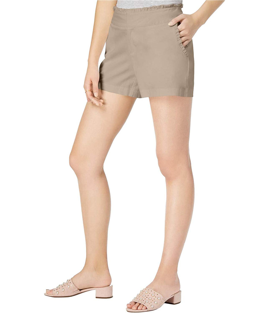 Yieldings Discount Clothing Store's Table Solid Ruffle Shorts by Maison Jules in Sand