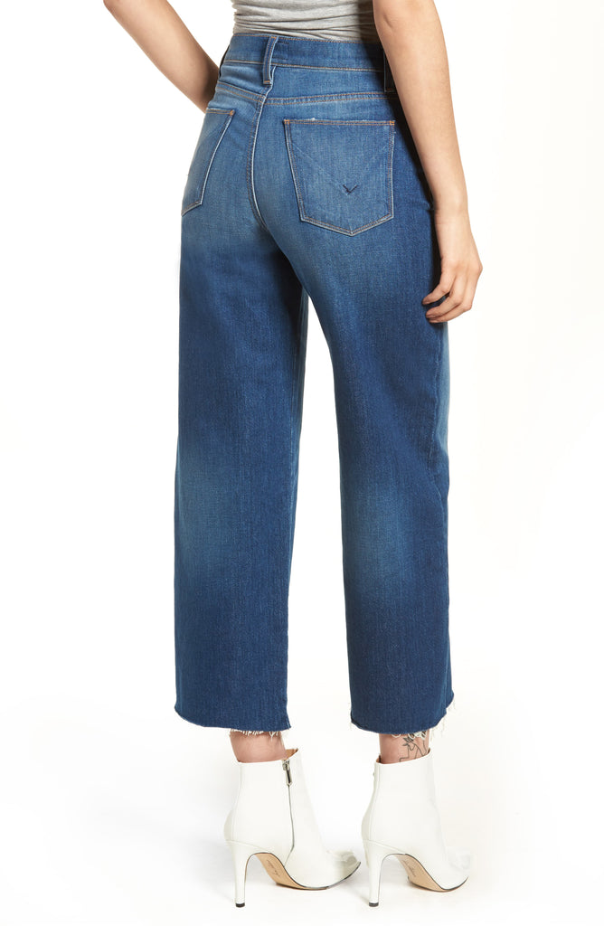 Hudson | Holly Own It High-Rise Wide Crop Jeans