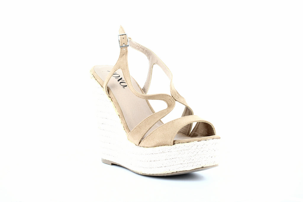 Yieldings Discount Shoes Store's Sabeen Wedge Sandals by XOXO in Sand
