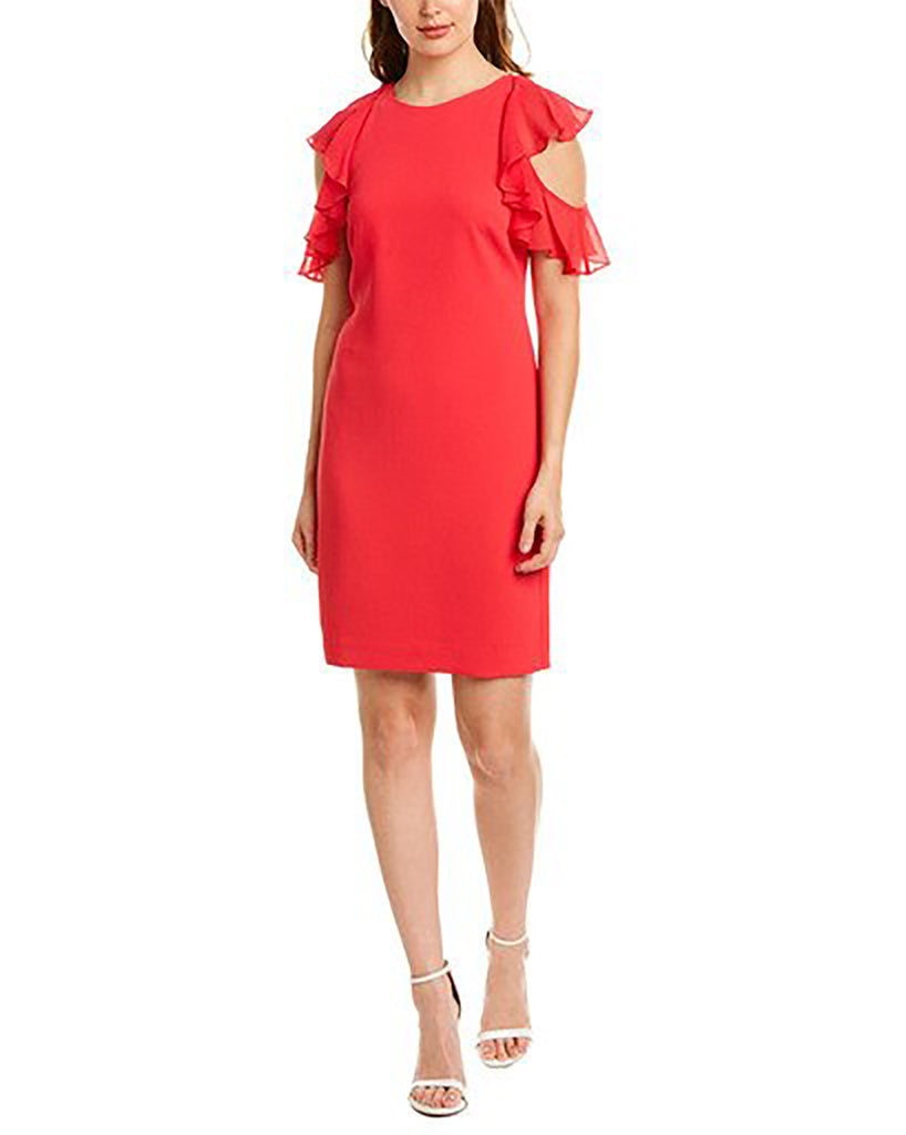 Yieldings Discount Clothing Store's Amanda Silk-Trim Shift Dress by Trina Turk in Pretty In Pink