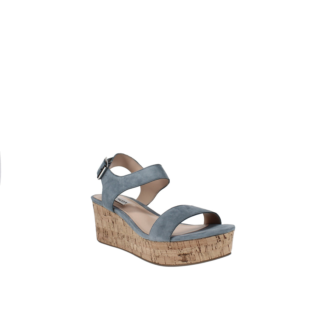 Yieldings Discount Shoes Store's Breathe Flatform Wedges by Steve Madden in Light Blue