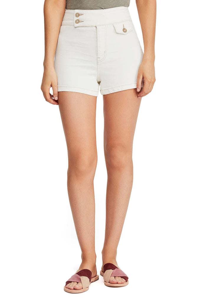 Yieldings Discount Clothing Store's Sammi Retro Shorts by We The Free By Free People in Worn White