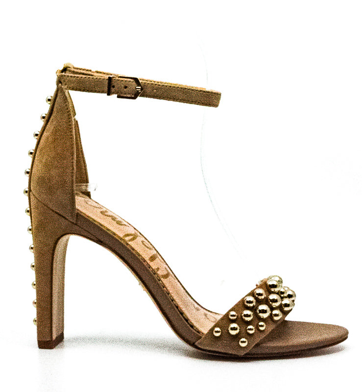 Yieldings Discount Shoes Store's Yoshi Suede Heel Sandals by Sam Edelman in Oatmeal