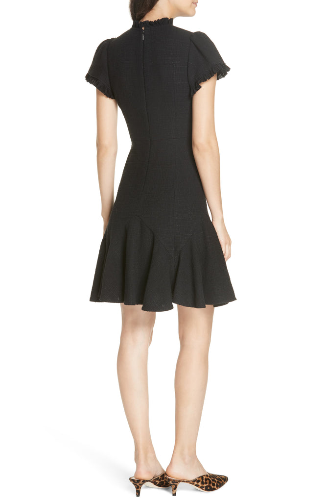 Yieldings Discount Clothing Store's Tweed Dress by Rebecca Taylor in Black