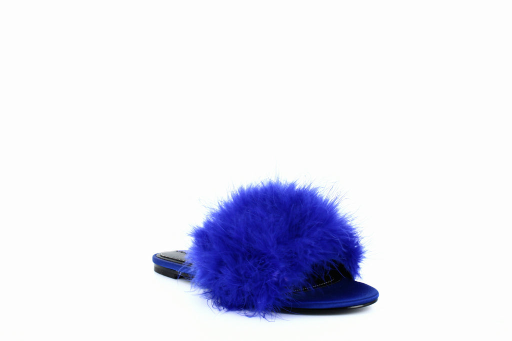 Yieldings Discount Shoes Store's Chloe 2 Slide Sandals by Kendall + Kylie in Medium Blue
