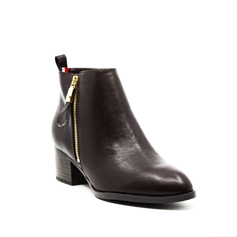 Yieldings Discount Shoes Store's Reiz2 Leather Boots by Tommy Hilfiger in Dark Brown