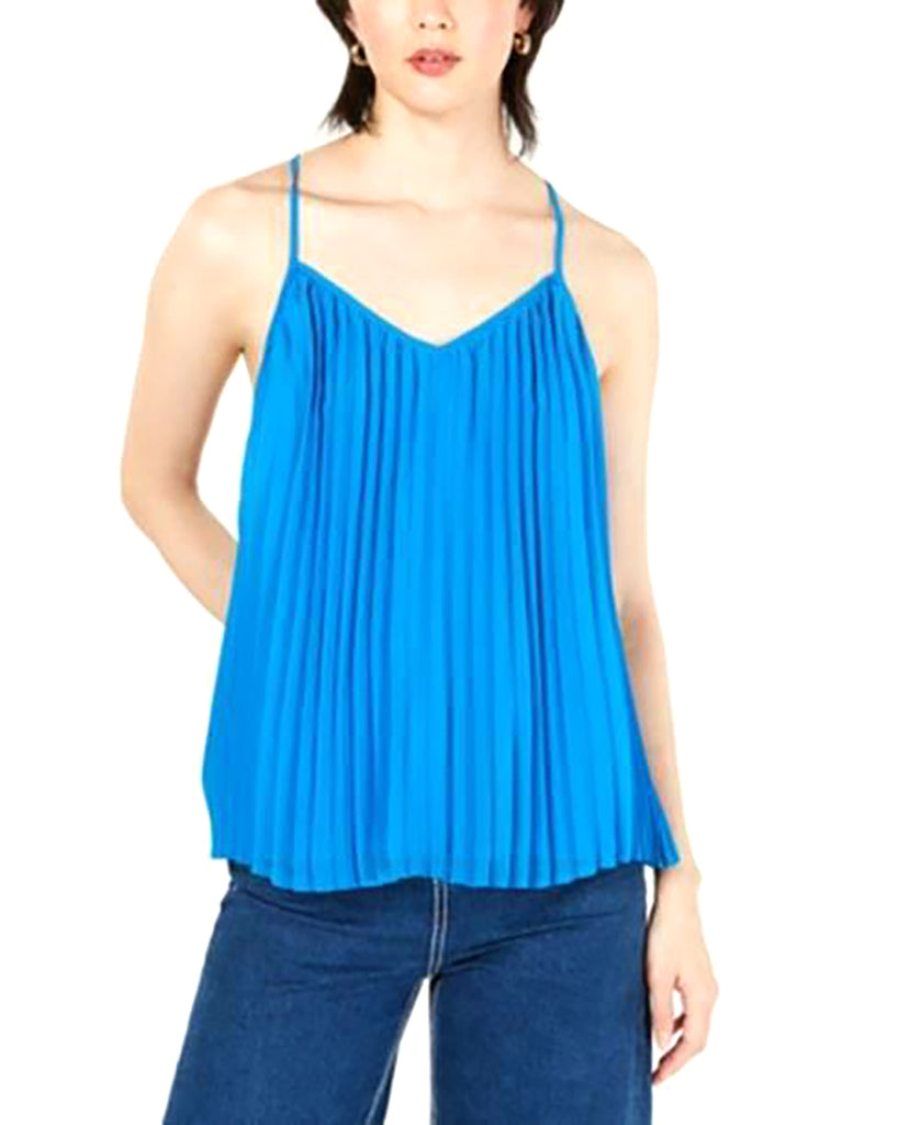 Bar III | Pleated Racerback Strappy Tank Top