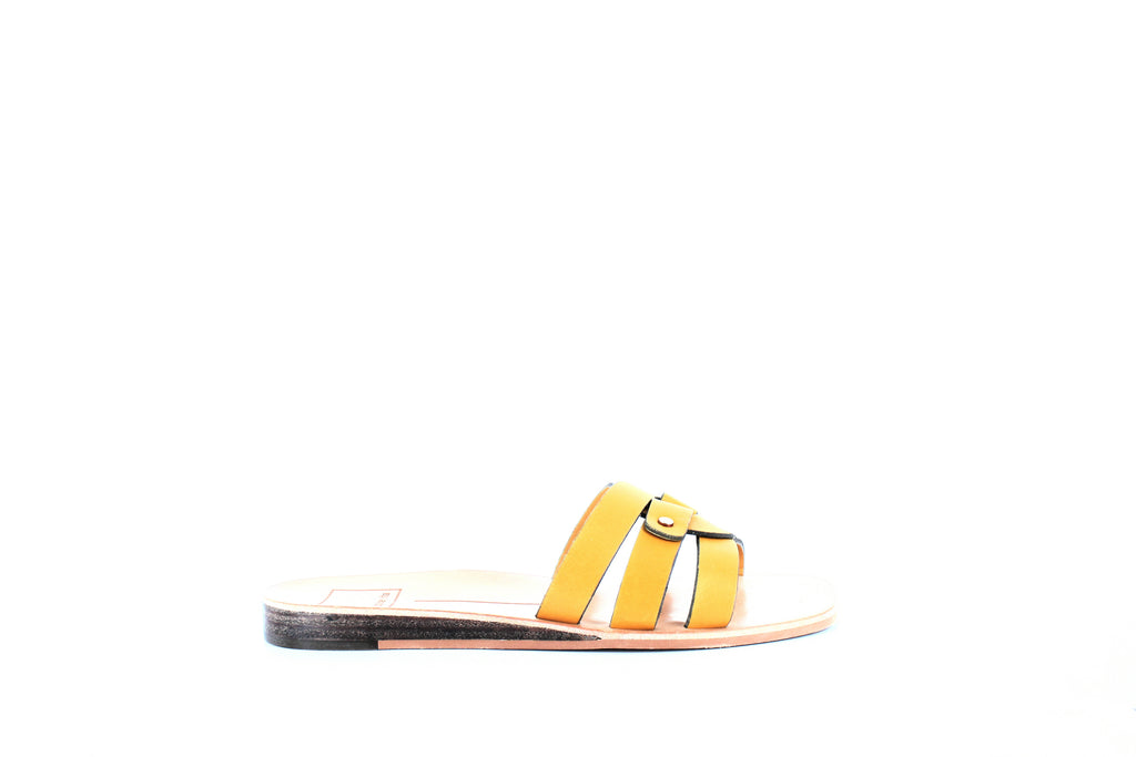 Yieldings Discount Shoes Store's Cait Slide Sandals by Dolce Vita in Honey Leather