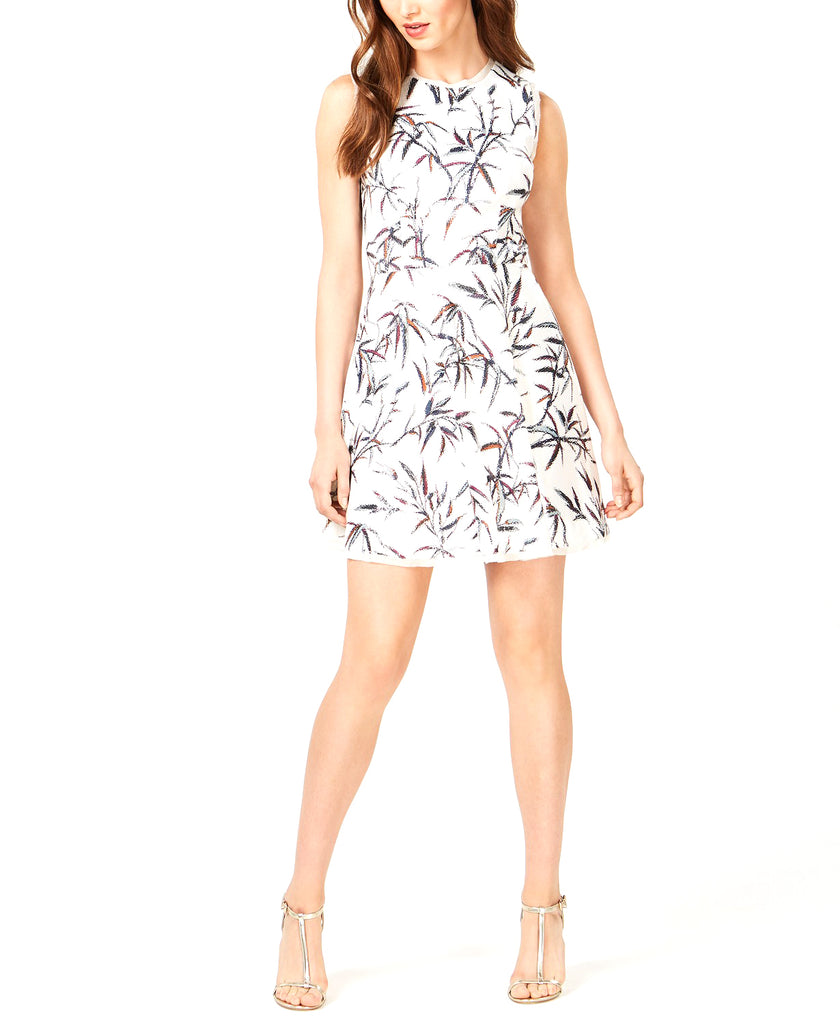 Yieldings Discount Clothing Store's Sequined Fit & Flare Mini Dress by Rachel Zoe in Multi