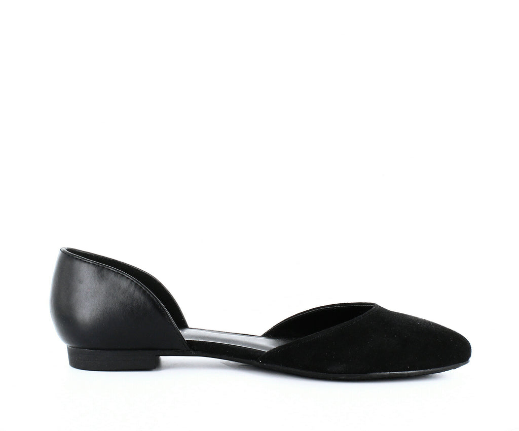 Yieldings Discount Shoes Store's Griff 2 Flats by Indigo Rd. in Black Fabric