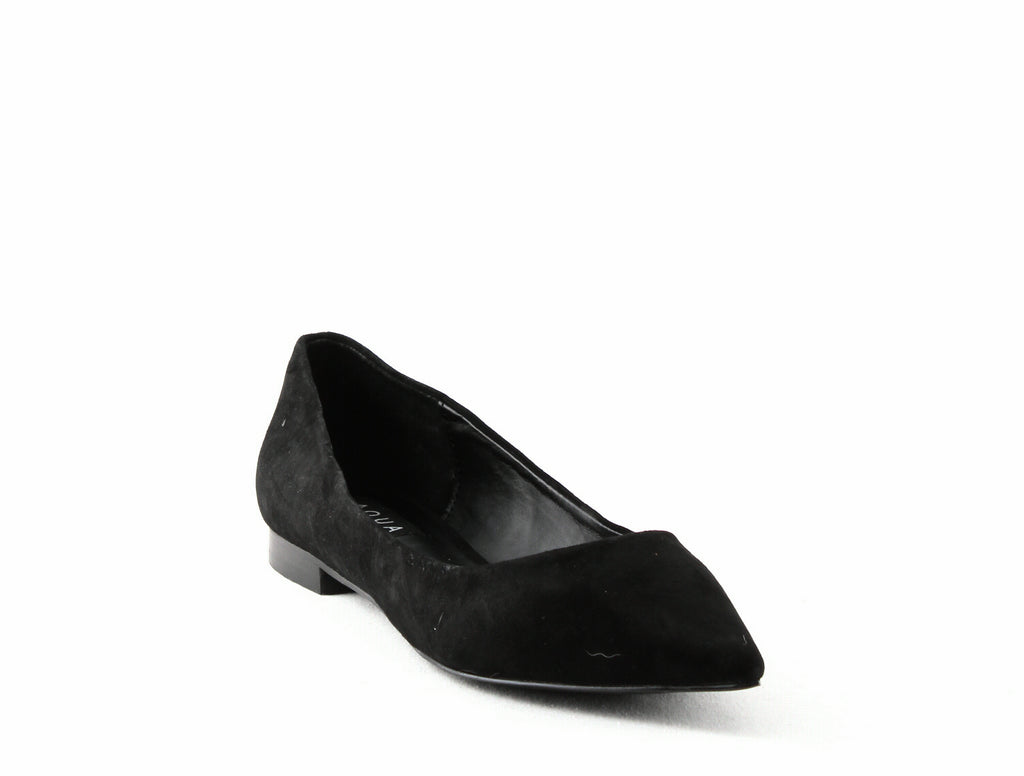 Yieldings Discount Shoes Store's Abel Suede Flats by Aqua in Black