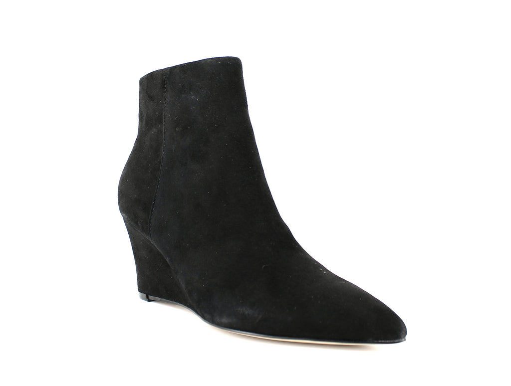 Yieldings Discount Shoes Store's Carter Wedge Booties by Nine West in Black Suede