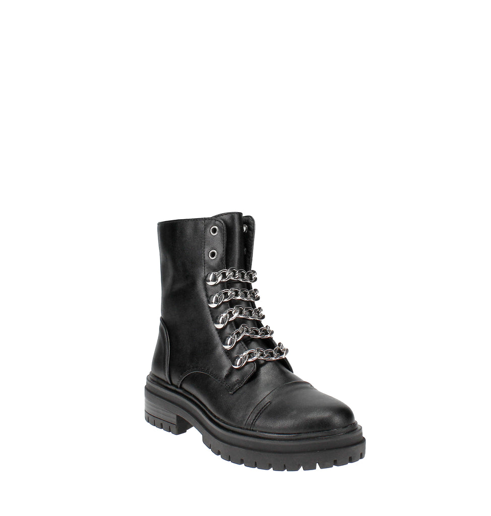 Yieldings Discount Shoes Store's Gili Combat Boots by Circus by Sam Edelman in Black