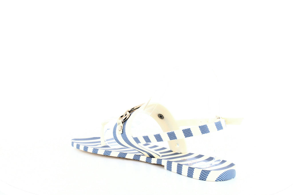 Yieldings Discount Shoes Store's Polly Jelly Sandals by Kate Spade in Blue/Cream