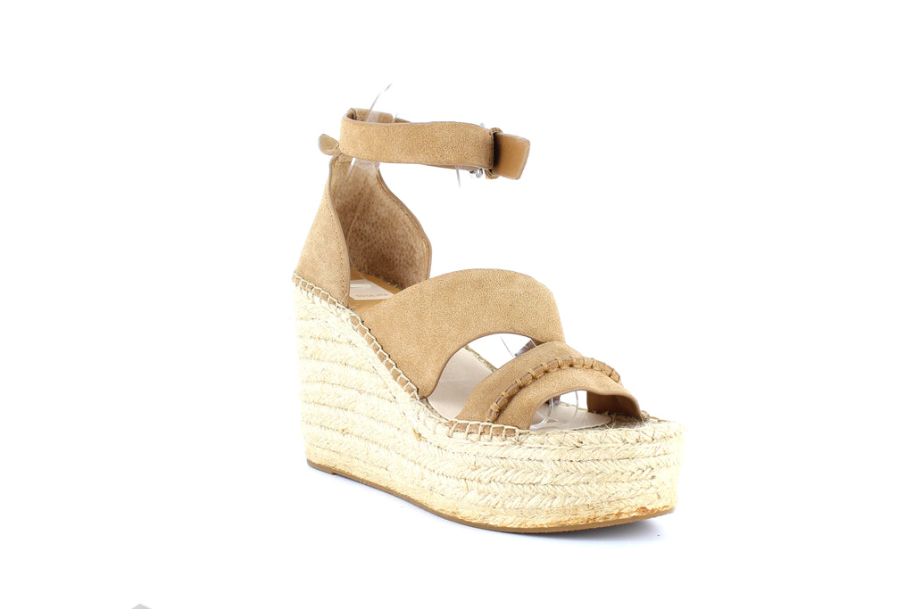 Yieldings Discount Shoes Store's Simi Espadrille Platform Wedge Sandals by Dolce Vita in Saddle Suede