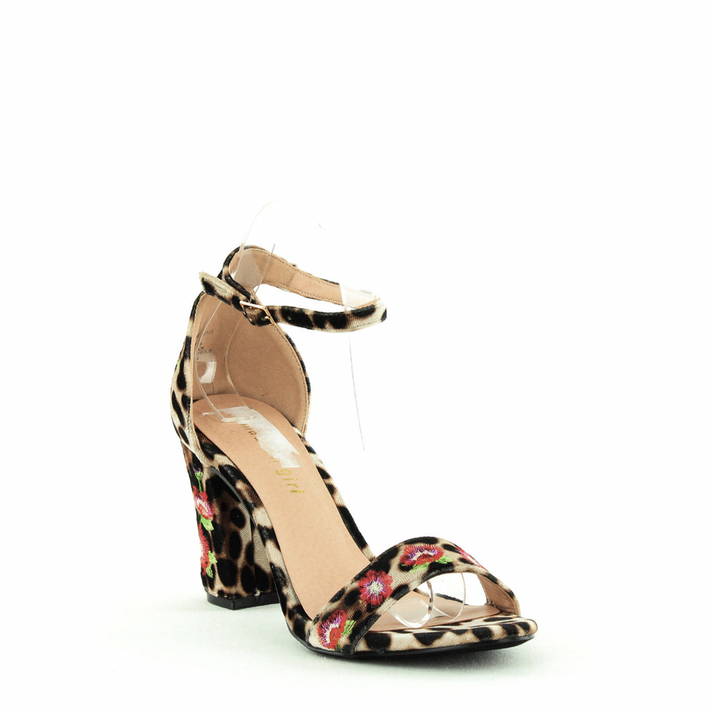 Yieldings Discount Shoes Store's Behave Block Heels by Madden Girl in Leopard Velvet