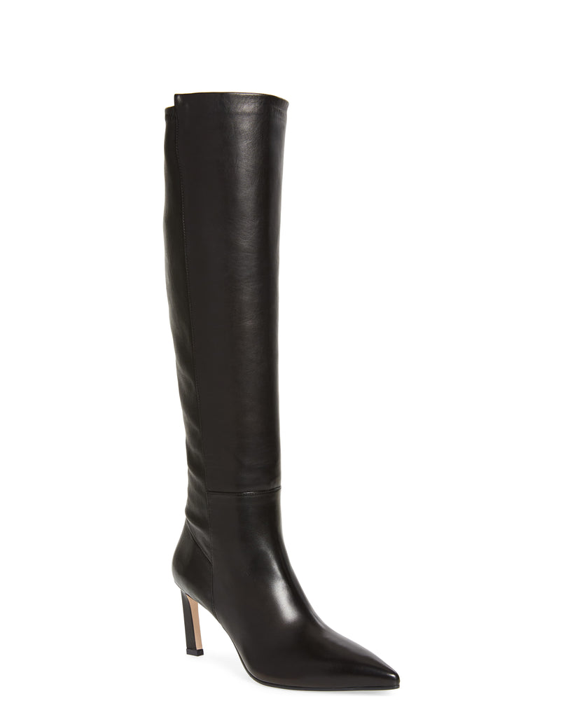 Yieldings Discount Shoes Store's Demi 75 Tall Knee-High Boots by Stuart Weitzman in Black