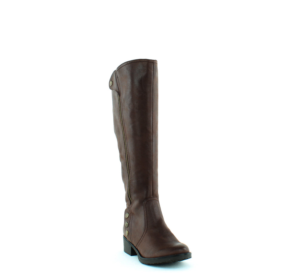 Yieldings Discount Shoes Store's Oria2 Knee-High Boots Wide Calf by Baretraps in Dark Brown