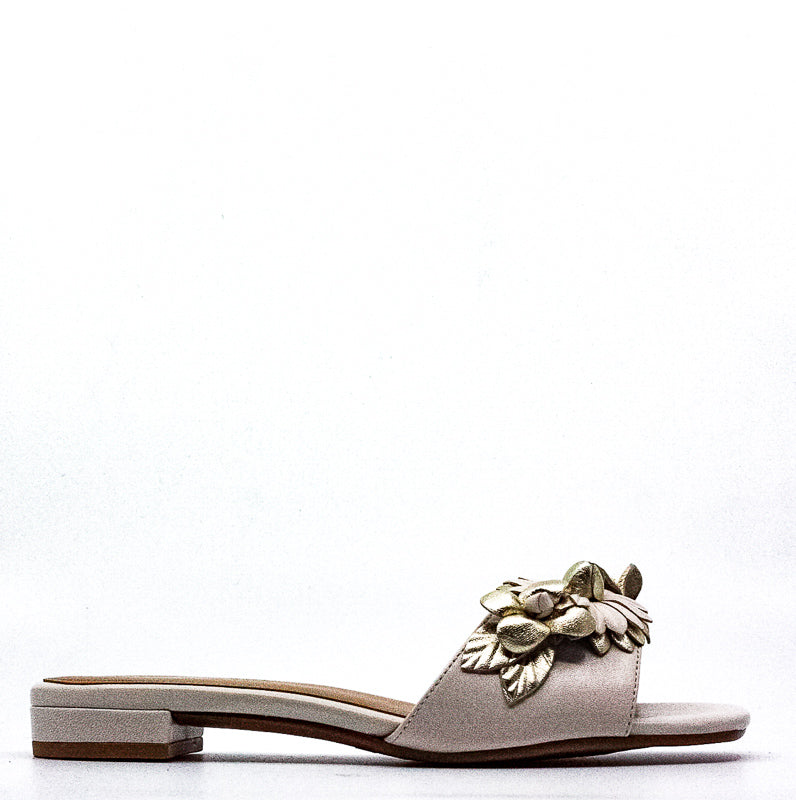 Yieldings Discount Shoes Store's Pin Down Combo Slide Sandals by Aerosoles in Bone