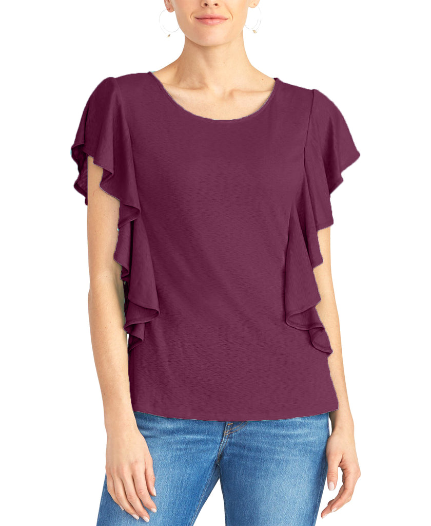 Yieldings Discount Clothing Store's Ruffled Top by RACHEL Rachel Roy in Victorian Violet