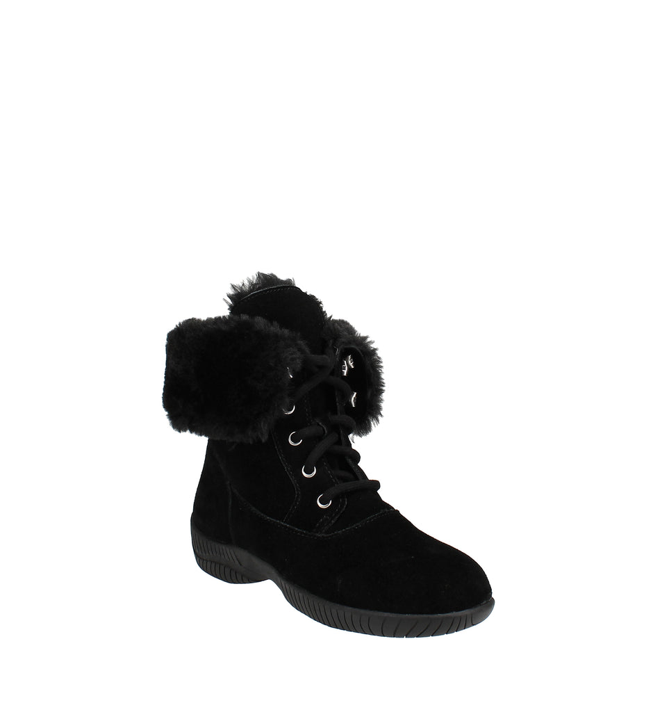 Yieldings Discount Shoes Store's Lace-Up Cold Weather Boots by Style & Co in Black
