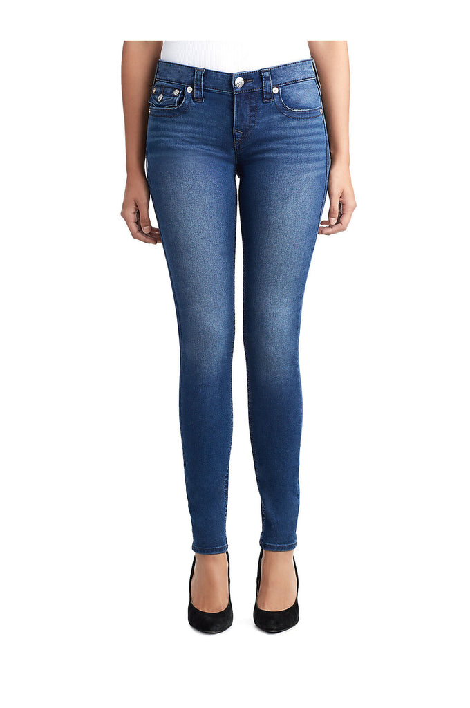 Yieldings Discount Clothing Store's Super Skinny With Flaps Jeans by True Religion in Positive Vibes