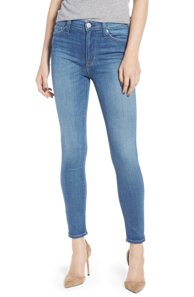 Yieldings Discount Clothing Store's High-Waist Barbara Super-Skinny Ankle Jeans by Hudson in First Date