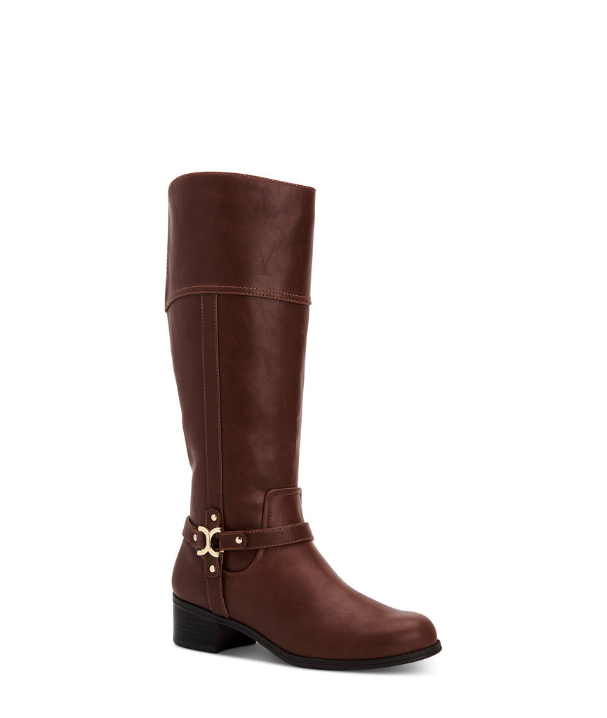 Yieldings Discount Shoes Store's Helenn Tall Boots by Charter Club in Chocolate