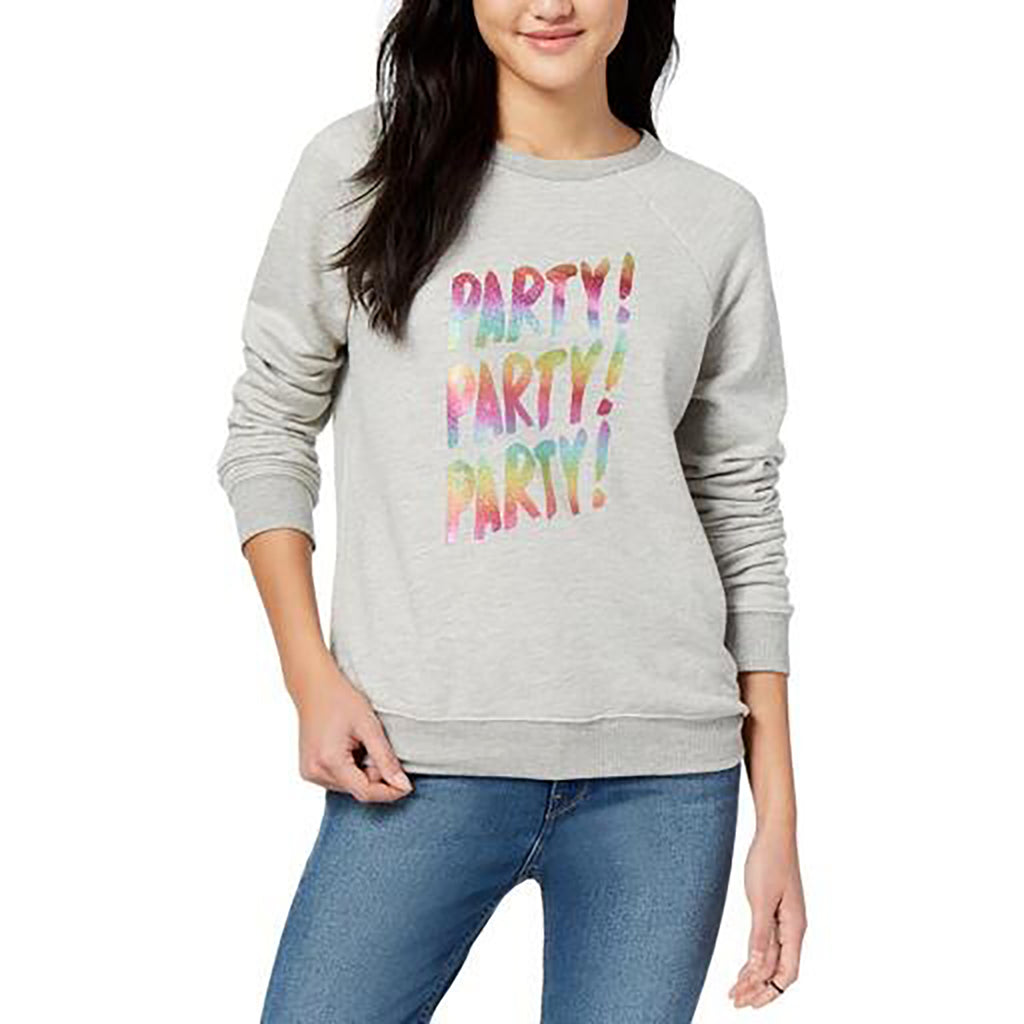 Yieldings Discount Clothing Store's Party Party Party Sweater by Bando in Grey
