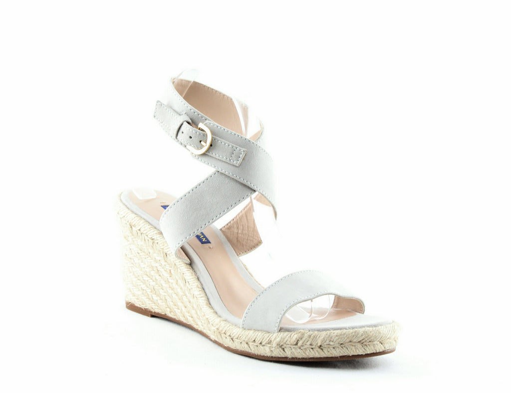 Yieldings Discount Shoes Store's Lexia Wedge Sandals by Stuart Weitzman in Seal Suede