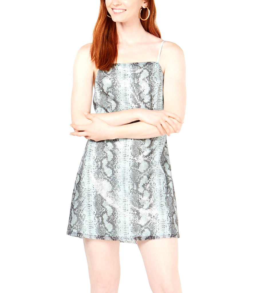 Yieldings Discount Clothing Store's Python-Print Slip Dress by TDC in Snake Print