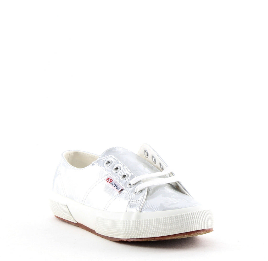 Yieldings Discount Shoes Store's 2750 Starchrome Lace Up Sneakers by Superga in Silver
