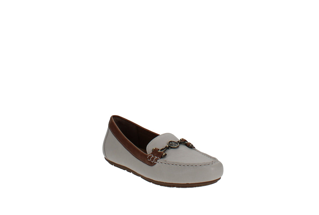 Yieldings Discount Shoes Store's Trevi Loafers by Patricia Nash in Ivory/Tan