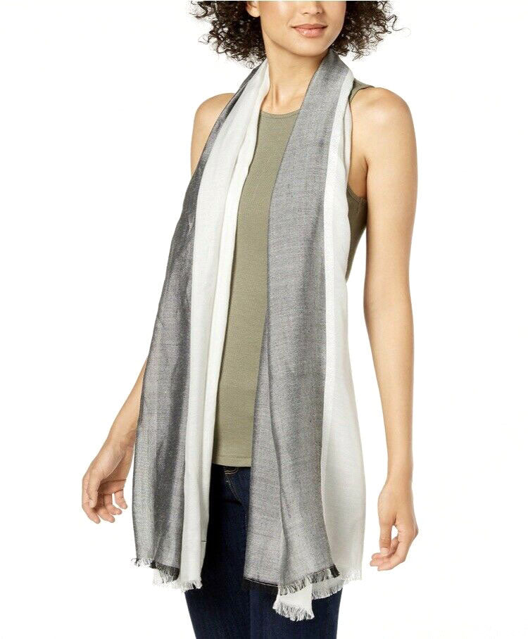 Yieldings Discount Accessories Store's Chambray Colorblock Cover-Up & Scarf by Calvin Klein in Gray