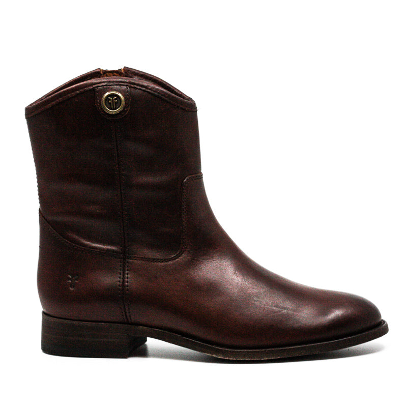 Yieldings Discount Shoes Store's Melissa Button Short 2 Boots by Frye in Redwood
