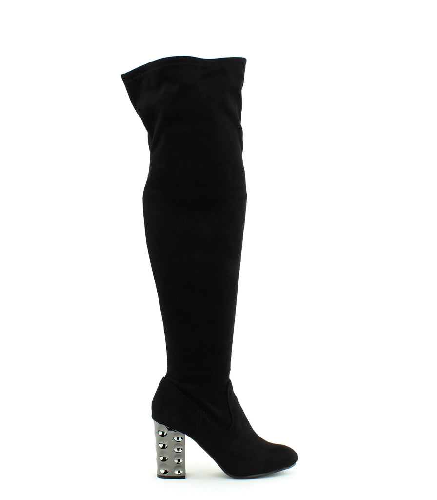 Yieldings Discount Shoes Store's Quantum Closed Toe Knee High Boot by Carlos by Carlos Santana in Black