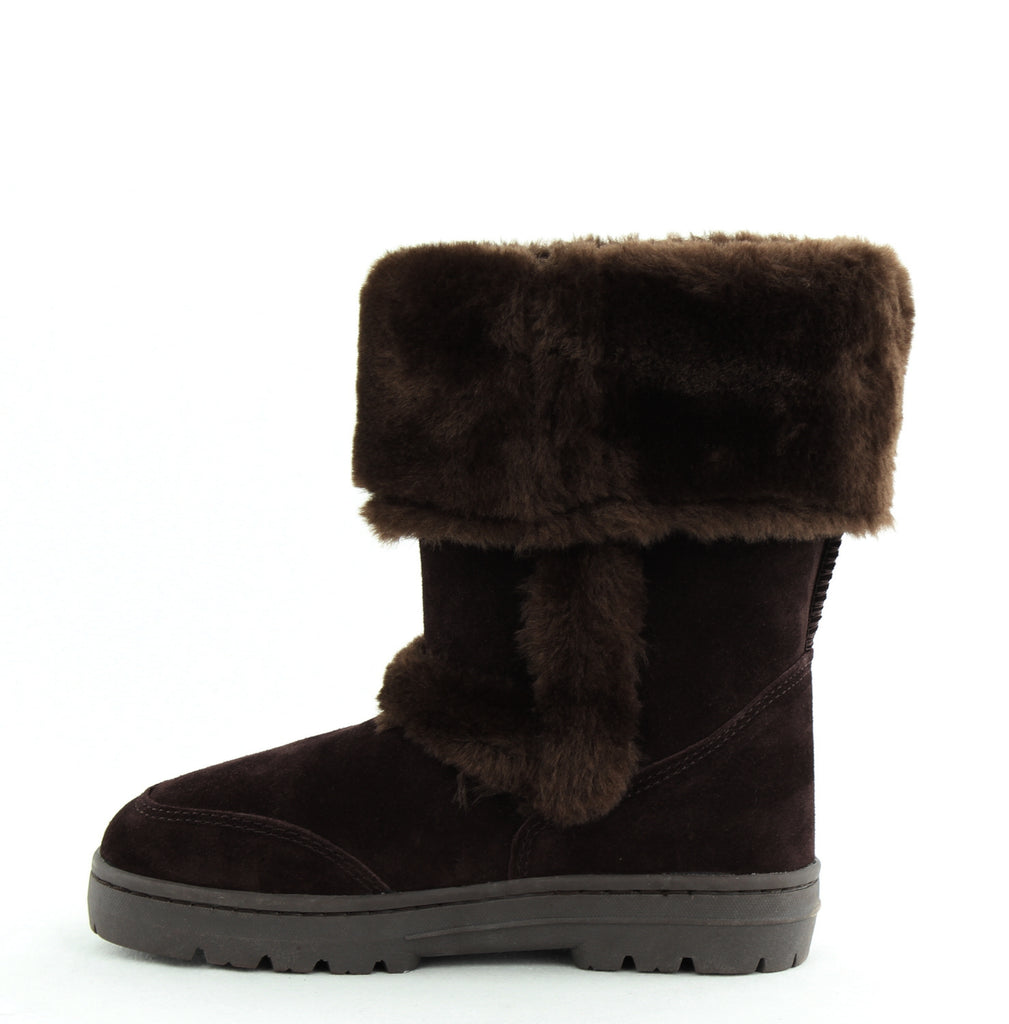 Yieldings Discount Shoes Store's Witty Faux-Fur Cold Weather Boots by Style & Co in Dark Brown