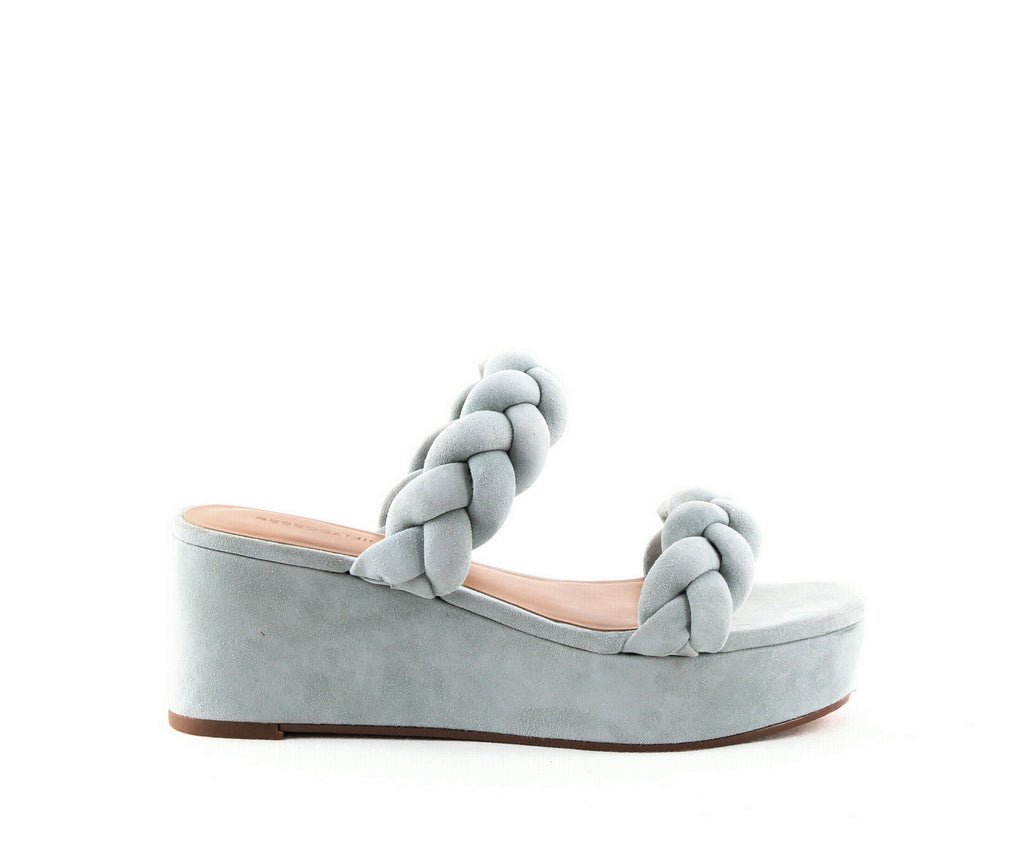 Yieldings Discount Shoes Store's Imani Platform Sandals by Rebecca Minkoff in Dusty Green
