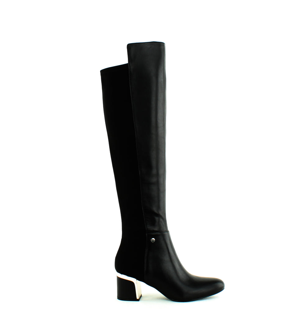 Yieldings Discount Shoes Store's Cora Knee High Boots by DKNY in Black