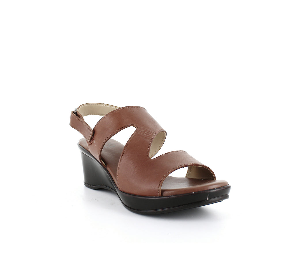 Yieldings Discount Shoes Store's Valerie Wedge Sandals by Naturalizer in Saddle