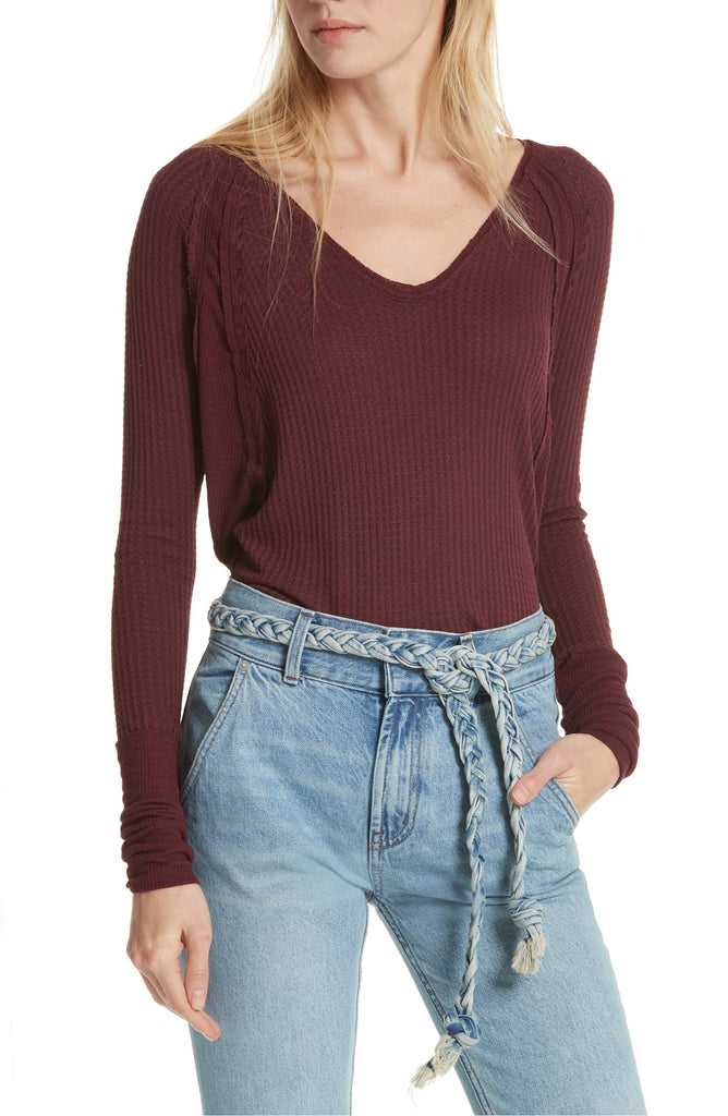 Yieldings Discount Clothing Store's Catalina Thermal by We The Free By Free People in Plumberry Heather