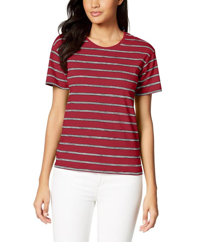 Yieldings Discount Clothing Store's Short Sleeve Cotton Jersey T-Shirt by Lacoste in Wine