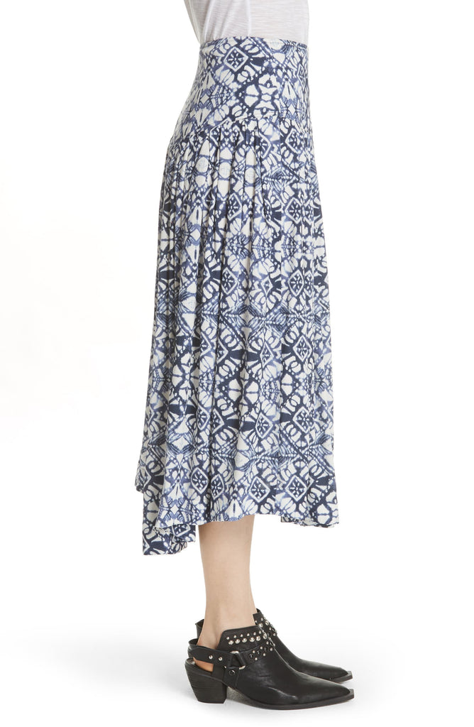 Yieldings Discount Clothing Store's Lovers Dream Printed Midi Skirt by Free People in Night