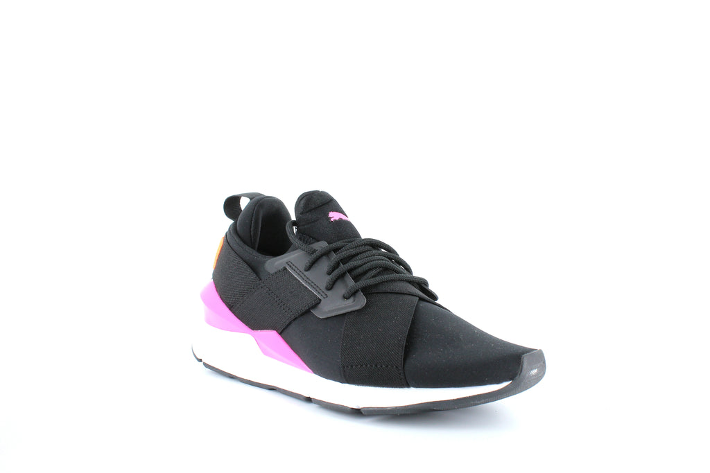 Yieldings Discount Shoes Store's Muse Chase Women's Sneakers by Puma in Puma Black/Knockout Pink