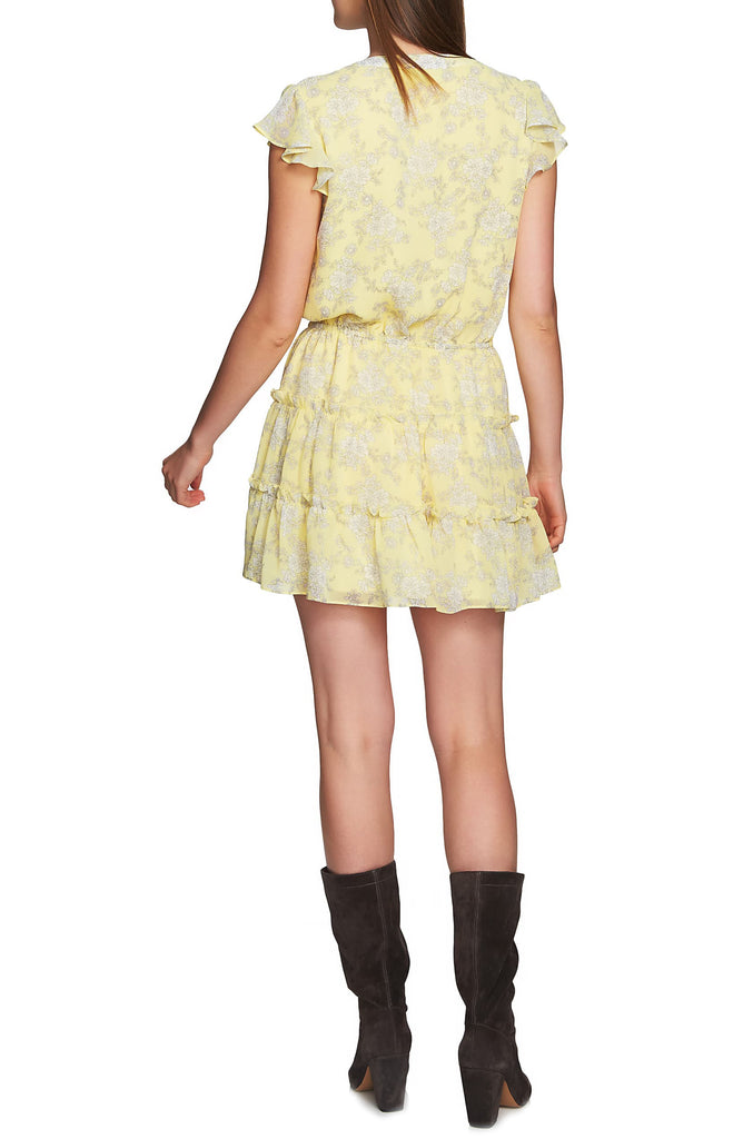 Yieldings Discount Clothing Store's Short-Sleeve Tiered-Ruffle Dress by 1.State in Sundew