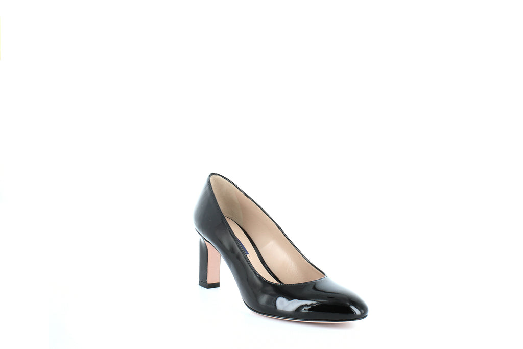 Yieldings Discount Shoes Store's Anne Patent Pumps by Stuart Weitzman in Black Patent