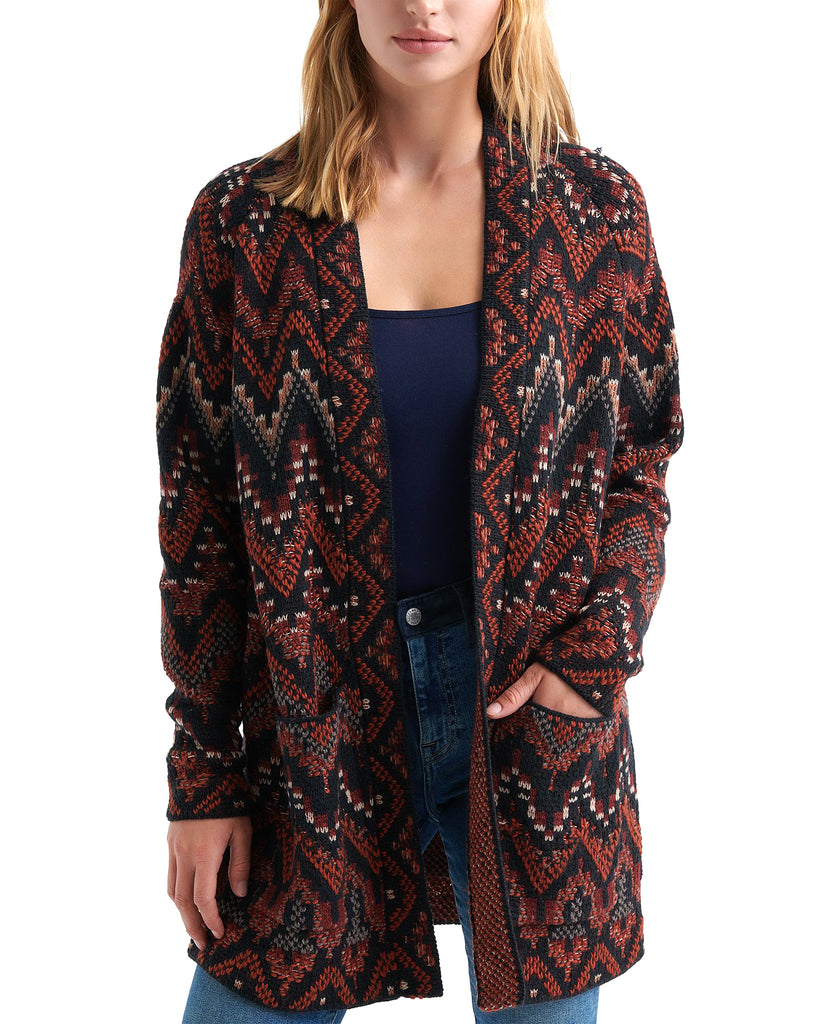 Lucky Brand | Open-Front Ikat Cardigan